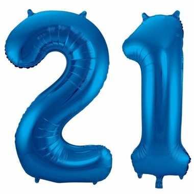 Goedkope jaar blauwe folie ballonnen leeftijd/cijfer
