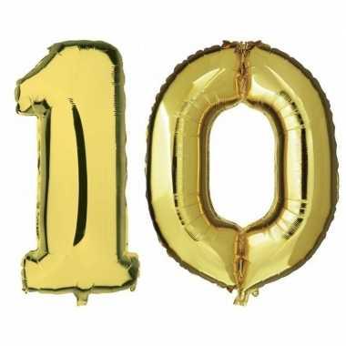 Goedkope jaar gouden folie ballonnen leeftijd/cijfer