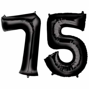Goedkope jaar zwarte folie ballonnen leeftijd/cijfer