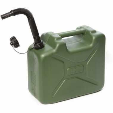 Goedkope jerrycan legergroen brandstof schenktuit liter