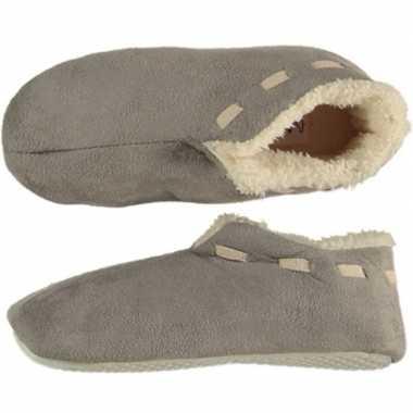 Goedkope jongens spaanse sloffen/pantoffels grijs maat