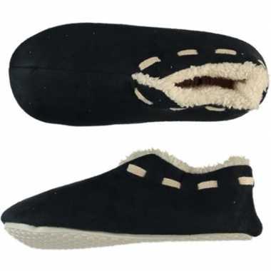 Goedkope jongens spaanse sloffen/pantoffels zwart maat