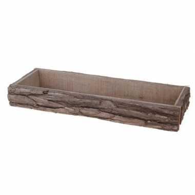 Goedkope kaarsenbord/plateau boomstam berkenhout rechthoekig