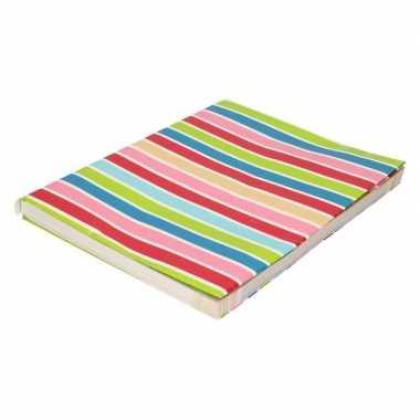 Goedkope kaftpapier gekleurde streepjes