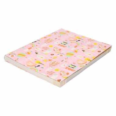 Goedkope kaftpapier girlpower roze