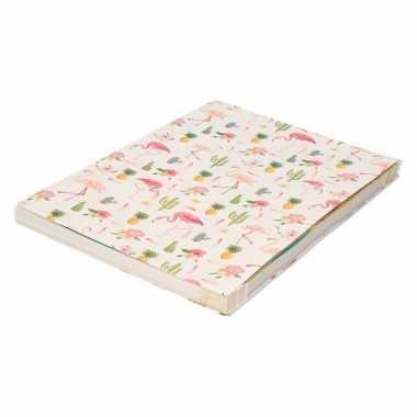 Goedkope kaftpapier roze flamingos