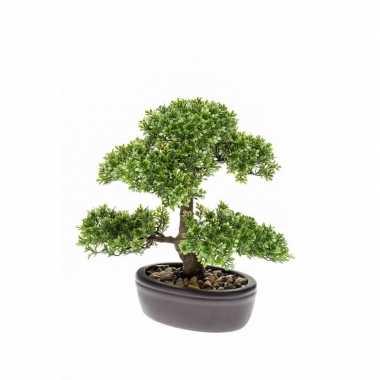 Goedkope kantoor kunstplant mini bonsai boompje pot