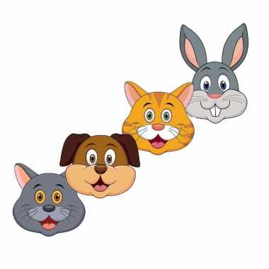 Goedkope kartonnen huisdieren maskers kinderen x