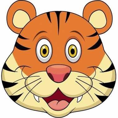 Goedkope kartonnen tijger masker kinderen