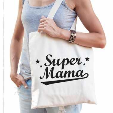 Goedkope katoenen cadeau tasje super mama