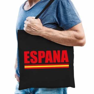 Goedkope katoenen spanje supporter tasje espana zwart