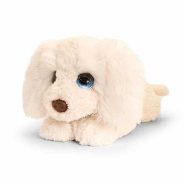 Goedkope keel toys grote pluche witte labradoodle honden knuffel