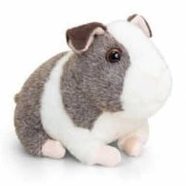 Goedkope keel toys pluche cavia knuffel grijs/wit geluid