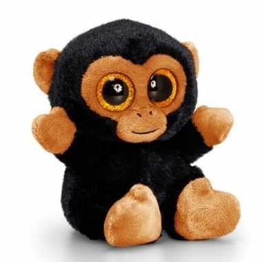 Goedkope keel toys pluche chimpansee knuffel bruin/zwart