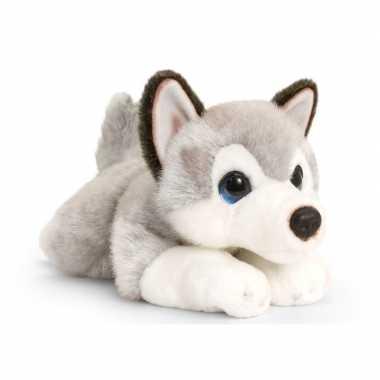 Goedkope keel toys pluche grijs/witte husky honden knuffel