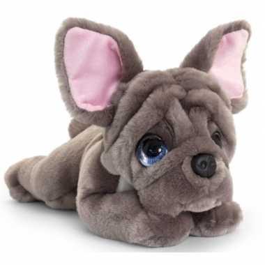 Goedkope keel toys pluche grijze franse bulldog honden knuffel