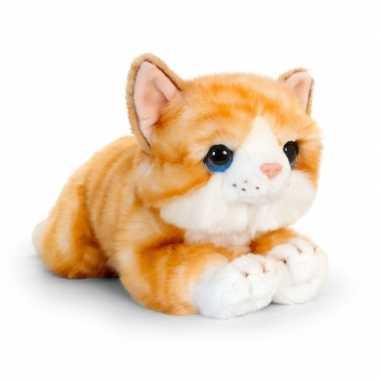 Goedkope keel toys pluche rood/witte kat/poes knuffel