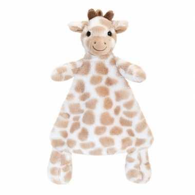 Goedkope keel toys pluche tuttel bruine giraffe knuffeldoekje