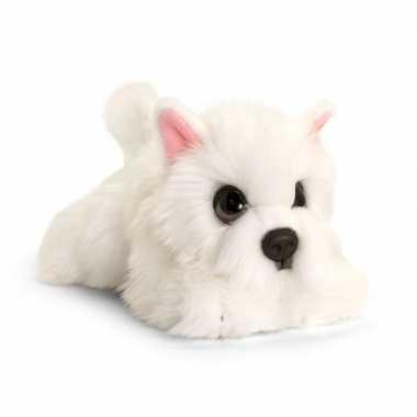 Goedkope keel toys pluche witte westie honden knuffel