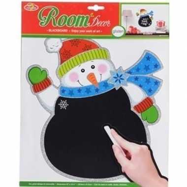 Goedkope kerst decoratie sneeuwpop krijtbord sticker