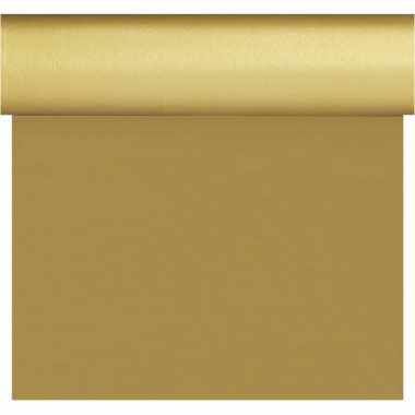 Goedkope kerst thema tafelloper/placemats goud unikleur