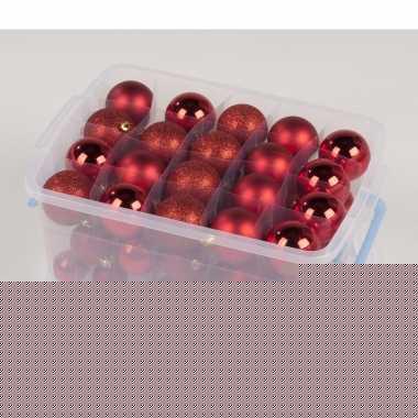 Goedkope Kerstballen Box Assorti Rood Stuks Goedkope Info