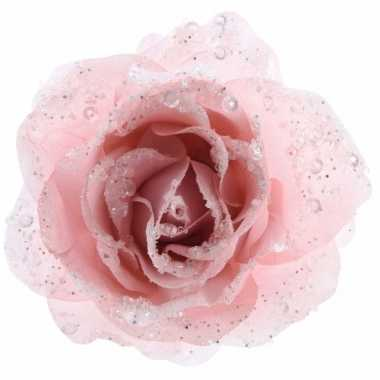 Goedkope kerstboom decoratie roos poeder roze