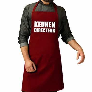 Goedkope keuken directeur barbeque schort / keukenschort bordeaux roo