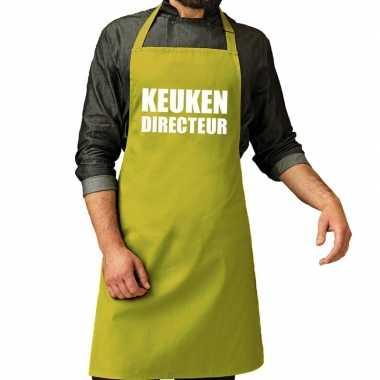 Goedkope keuken directeur barbeque schort / keukenschort lime groen h