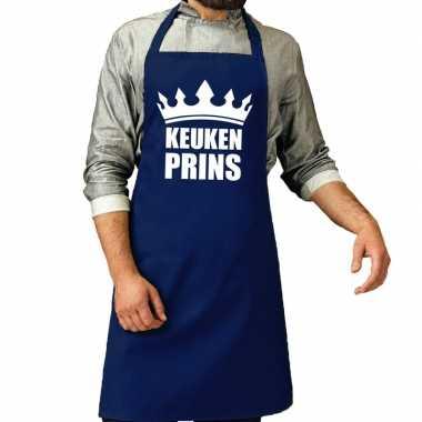 Goedkope keuken prins barbeque schort / keukenschort kobalt heren