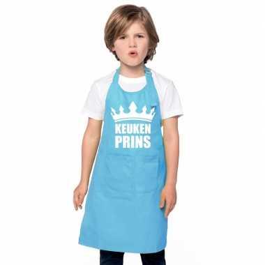 Goedkope keukenprins keukenschort blauw jongens