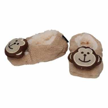 Goedkope kinder dieren pantoffels/slofjes aap