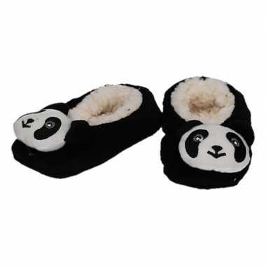 Goedkope kinder dieren pantoffels/slofjes panda