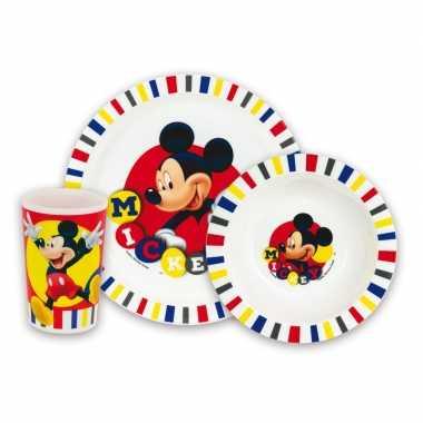 Goedkope kinder ontbijt set mickey mouse