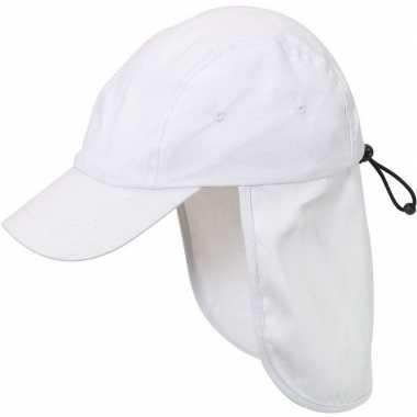 Goedkope kindercap/babypetje wit nek bescherming