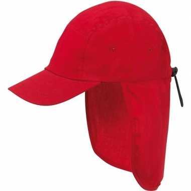 Goedkope kindercap rood nek bescherming
