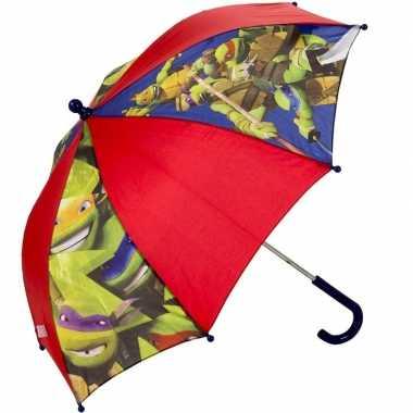 Goedkope kinderparaplu ninja turtles rood