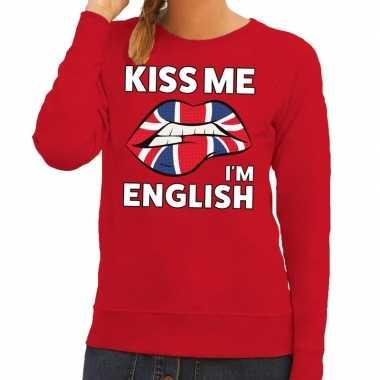 Goedkope kiss me i am english sweater rood dames