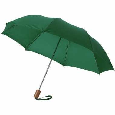 Goedkope kleine opvouwbare paraplu groen