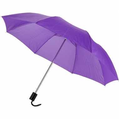Goedkope kleine opvouwbare paraplu paars