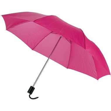 Goedkope kleine opvouwbare paraplu roze