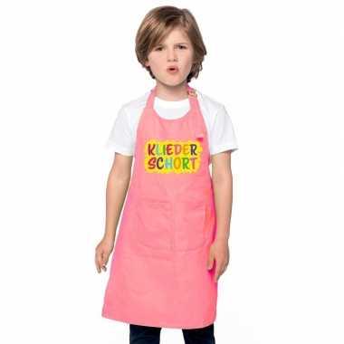 Goedkope kliederschort roze kinderen