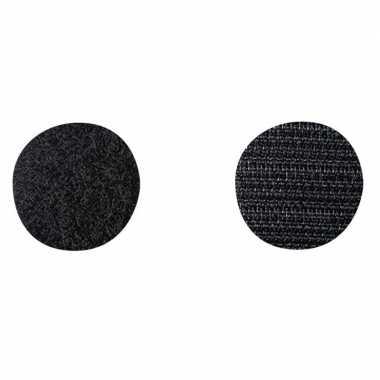 Goedkope klittenband rondjes zwart stuks mm