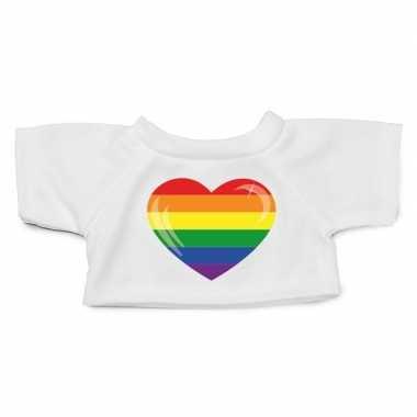 Goedkope knuffel kleding gaypride hart shirt m clothies knuffel