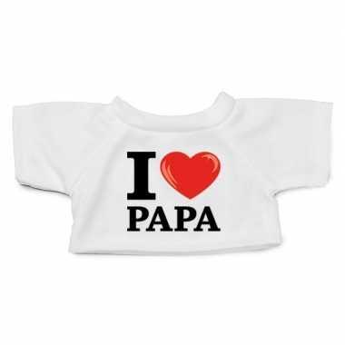 Goedkope knuffel kleding i love papa shirt wit xl clothies knuffel