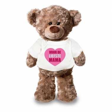 Goedkope knuffel teddybeer liefste mama wit shirt