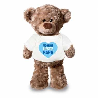Goedkope knuffel teddybeer liefste papa wit shirt