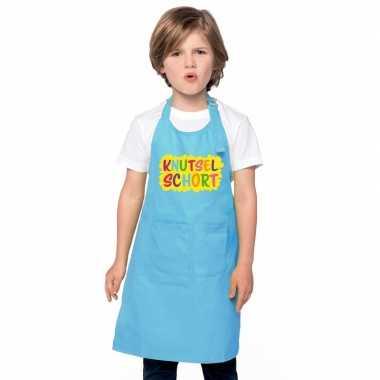Goedkope knutselschort blauw kinderen
