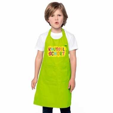 Goedkope knutselschort lime groen kinderen