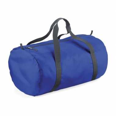 Goedkope kobalt blauwe ronde polyester sporttas/weekendtas liter